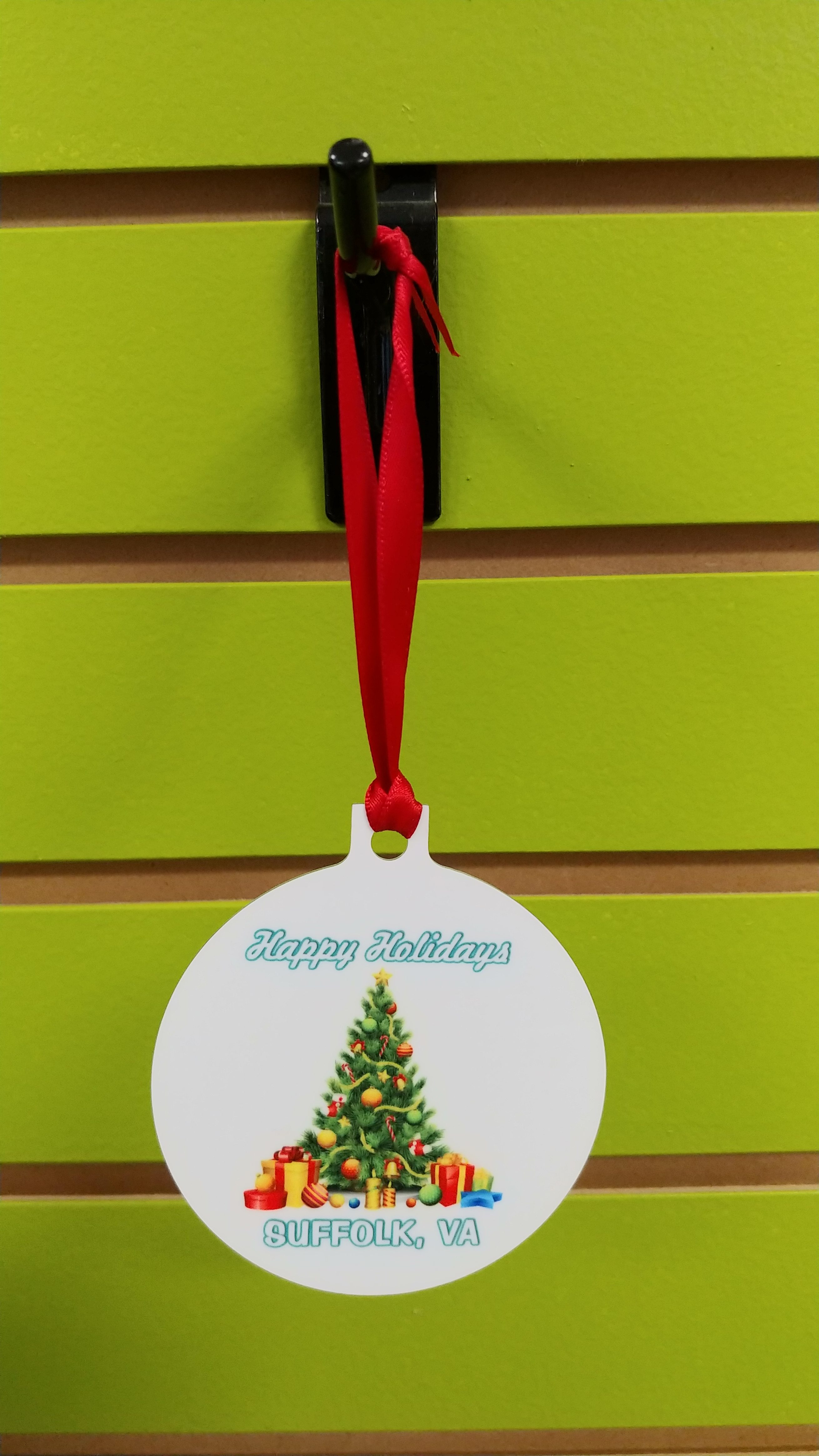 Ornament: Two Sided City Themed Stock Christmas Ornament